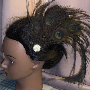 New Flapper Peacock headpiece handmade